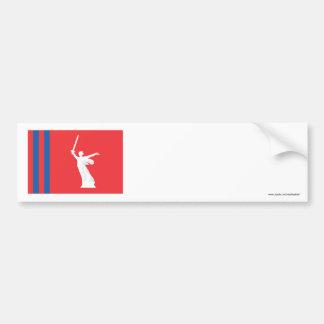 Bandera de Stalingrad Oblast Pegatina De Parachoque