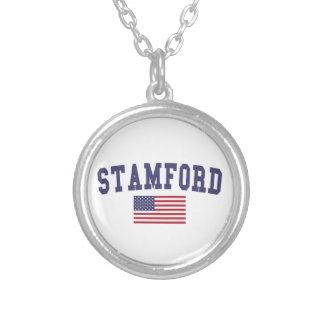 Bandera de Stamford los E.E.U.U. Colgante Redondo