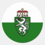 Bandera de Steiermark (estado), Austria Pegatina Redonda