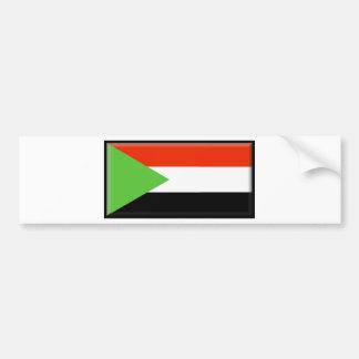 Bandera de Sudán Etiqueta De Parachoque