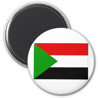 Bandera de Sudán Imán Redondo 5 Cm