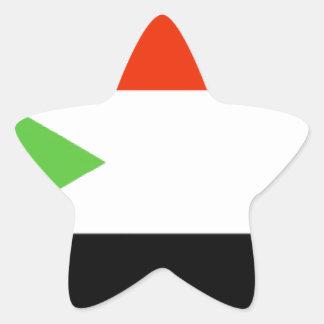 Bandera de Sudán Calcomanías Forma De Estrellas