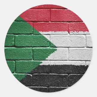Bandera de Sudán Pegatina Redonda
