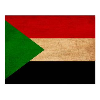 Bandera de Sudán Tarjeta Postal