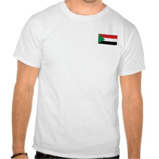 Bandera de Sudán y camiseta del mapa