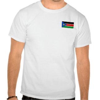 Bandera de Sudán y camiseta del sur del mapa