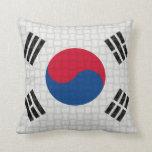 Bandera de sudcoreano de la Corea del Sur Cojin