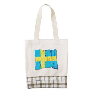 Bandera de Suecia (apenada) Bolsa Tote Zazzle HEART