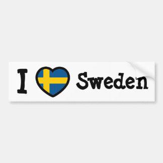 Bandera de Suecia Etiqueta De Parachoque