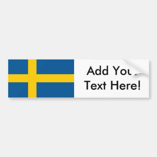 Bandera de Suecia Pegatina De Parachoque