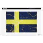 Bandera de Suecia Calcomanía Para 38,1cm Portátil