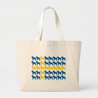 Bandera de Suecia del caballo de Dala Bolsa Tela Grande