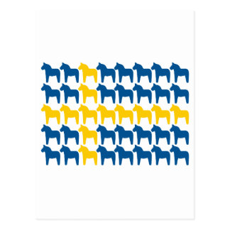 Bandera de Suecia del caballo de Dala Postales