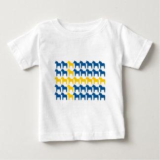 Bandera de Suecia del caballo de Dala Remeras