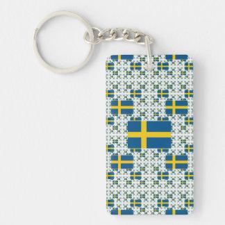 Bandera de Suecia en capas múltiples Llavero