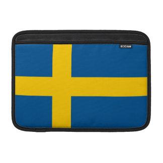 Bandera de Suecia Funda Para Macbook Air