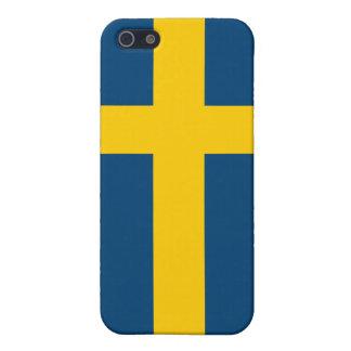 Bandera de Suecia iPhone 5 Carcasas