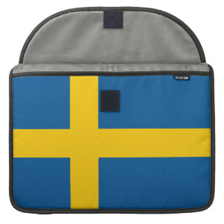 Bandera de Suecia Funda Para Macbook Pro