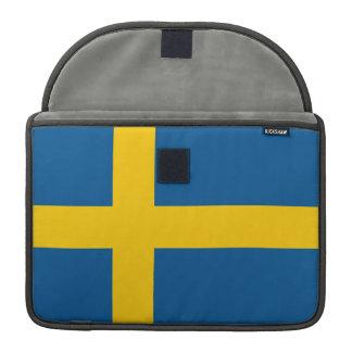 Bandera de Suecia Fundas Para Macbooks