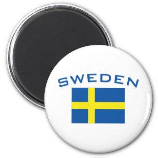 Bandera de Suecia Iman Para Frigorífico