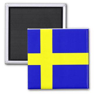 Bandera de Suecia Imán Cuadrado
