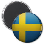 Bandera de Suecia Imán Redondo 5 Cm