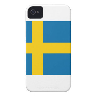 Bandera de Suecia iPhone 4 Carcasas