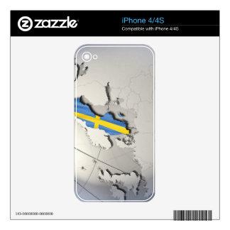Bandera de Suecia iPhone 4 Skins