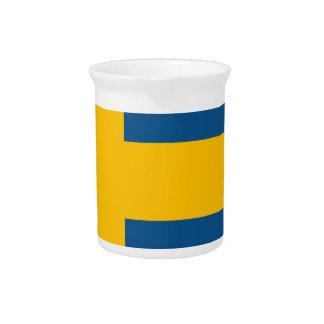 Bandera de Suecia Jarras De Beber