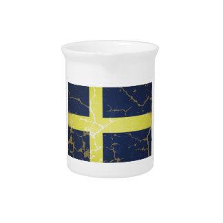 Bandera de Suecia Jarras Para Bebida