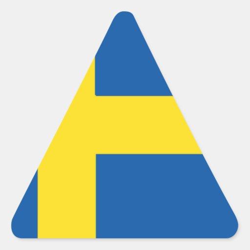 Bandera de Suecia Calcomania De Trianguladas