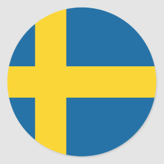 Bandera de Suecia Pegatina Redonda