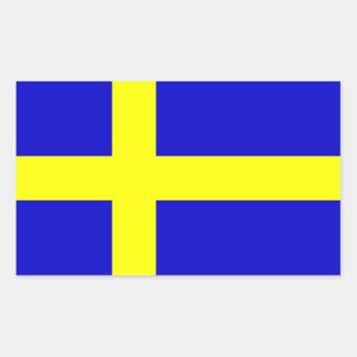 Bandera de Suecia Pegatina Rectangular