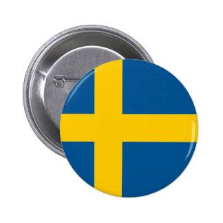 Bandera de Suecia Pin Redondo De 2 Pulgadas