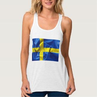 Bandera de Suecia Playera De Tirantes Cruzados Holgada