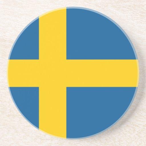 Bandera de Suecia Posavasos Diseño