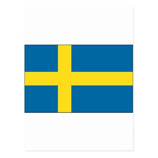 Bandera de Suecia Postales