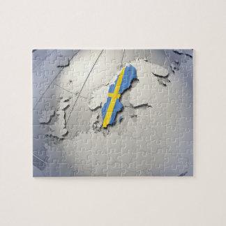 Bandera de Suecia Puzzle Con Fotos