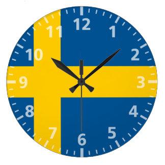 Bandera de Suecia Reloj Redondo Grande