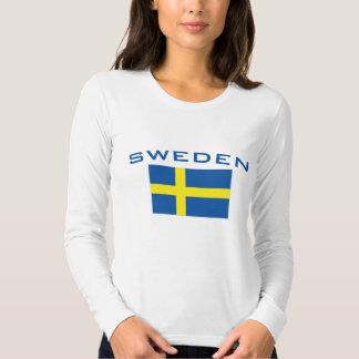 Bandera de Suecia Remera