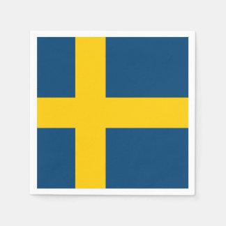 Bandera de Suecia Servilleta De Papel