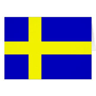 Bandera de Suecia Tarjeta De Felicitación