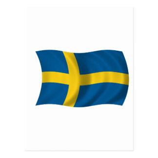Bandera de Suecia Tarjeta Postal