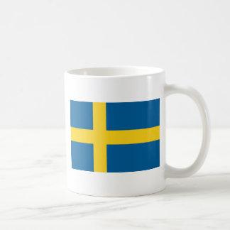 Bandera de Suecia Tazas