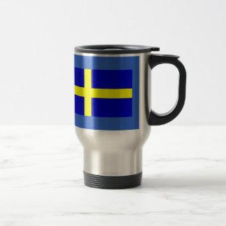Bandera de Suecia Taza Térmica