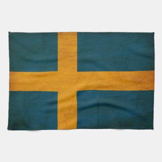 Bandera de Suecia Toalla De Cocina