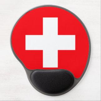 Bandera de Suiza Alfombrilla De Raton Con Gel
