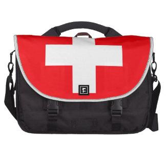Bandera de Suiza Bolsas De Ordenador