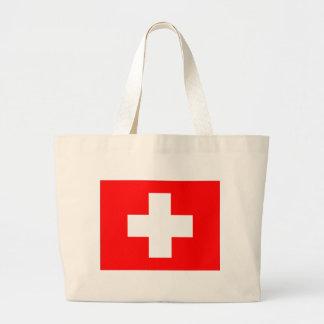 Bandera de Suiza Bolsa Tela Grande