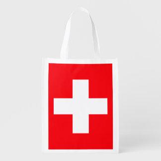 Bandera de Suiza Bolsas Reutilizables